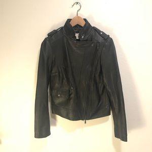 Alice and Olivia 100% leather black jacket